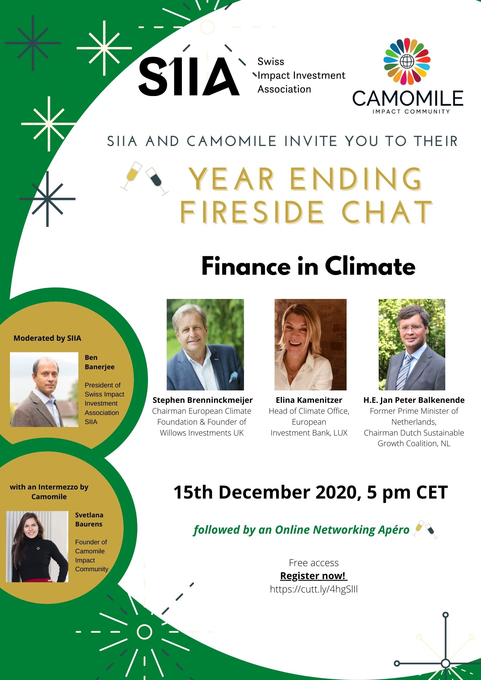 FINANCE IN CLIMATE – Year Ending Fireside chat